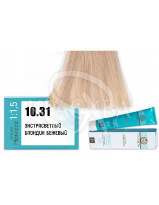 Barex Olioseta ODM-Крем-краска безаммиачная с маслом арганы 10.31 Экстра светлый блондин бежевый, 100 мл :