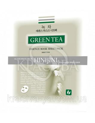 Зволожуюча маска з зеленим чаєм для звуження пор HINI JINI, 20г : HINI JINI