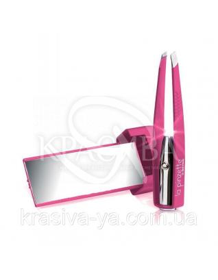 Beter La Pinzette Пинцет для удаления волос с косыми кончиками, с подсветкой и зеркальцем, 8.2 см : Аксессуары