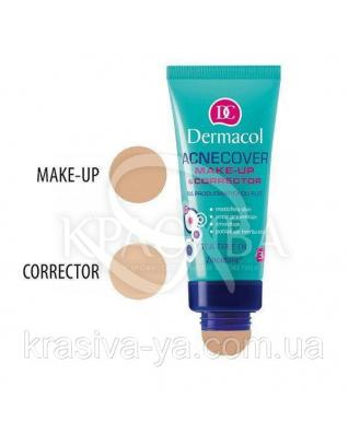 DC Make-up Acnecover and Corrector 03 Тональний крем з коректором для проблемної шкіри, 30 мл + 3 р :