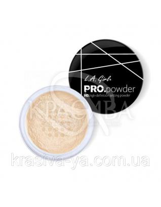 L.A.Girl GPP 920 Pro Powder HD Setting Powder Banana Yellow - Рассыпчатая пудра для лица, 5 г : Пудра для лица
