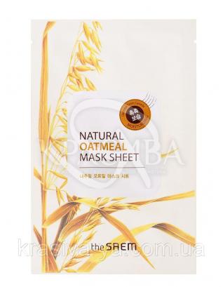 "The Saem Natural Sheet - Тканинна маска з натуральним екстрактом ""Вівсяні висівки"", 20 мл : The Saem"