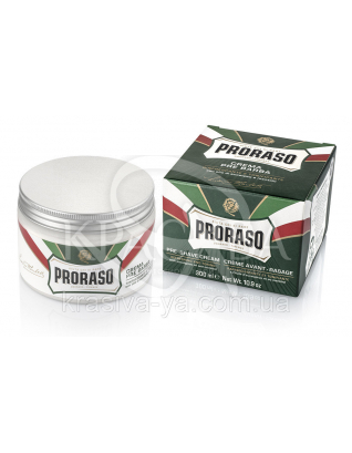 Professional Pre - Shaving Cream Крем перед бритьем с эвкалиптом и ментолом, 300 мл : Proraso