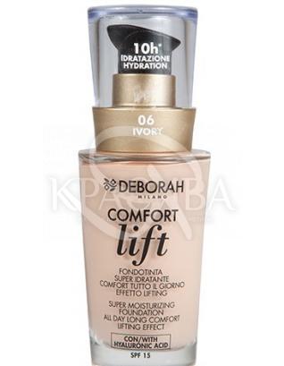 """Тональна основа для особи вельветовий """"Comfort Lift"""" 06 Ivory (Very Light), 30 мл : Тональний крем"""