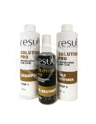 Набір Solution PRO Холодне відновлення волосся (Крок 1+Крок 2+Шаг3), 250+75+250 мл : Result