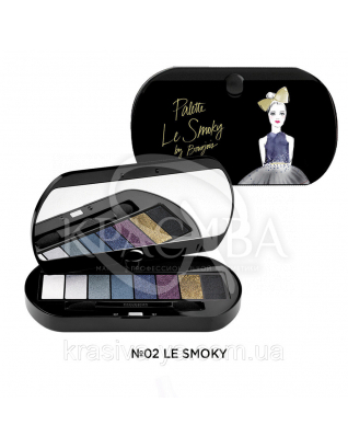 BJ Palette Le Smoky - Палетка из 8 теней N02, 4.5 г : Палетки