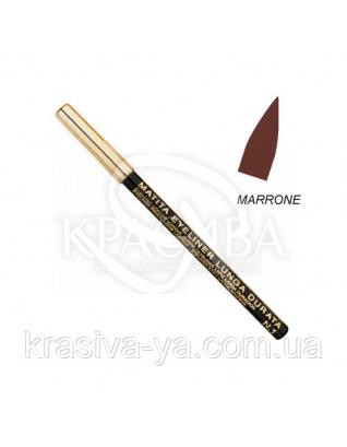 Олівець для очей стійкий Eye Liner Pencil Long Lasting Brown, 1.5 м : Layla