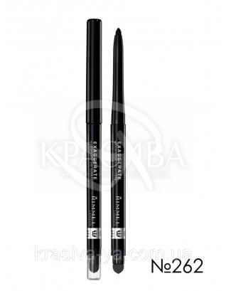 RM Exaggerate Waterproof Eye Definer - Карандаш для глаз (262-Blackest Black / супер черный), 0,28 г : Контурный карандаш