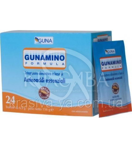 """Gunamino Formula Харчова добавка """"Комплекс амінокислот), 24 саші*6.5 м - 1"""