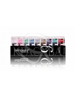 Набор из 9 пигментов Cosmetics Shimmer 9 Stack - Glamorous Glitter, 15.75 г : Шиммер для лица