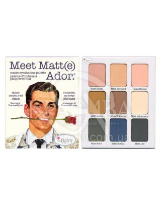 The Balm Palettes Meet Matte Ador - Палетка теней, 21.6 г : Палетки