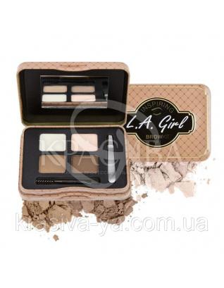 L.A.Girl GES 341 Inspiring Brow Kin Light and Bright - Набор для коррекции и макияжа бровей, 3.7 г : Beauty-наборы для макияжа