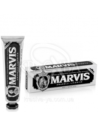 Marvis Amarelli Licorice - Зубная паста Лакрица -Мята, 85 мл