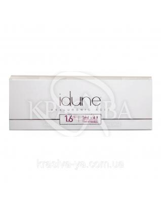 Idune 1.6% Препарат для биоревитализации кожи. Против фото и хроностарения, 1 мл : Препараты для биоревитализации