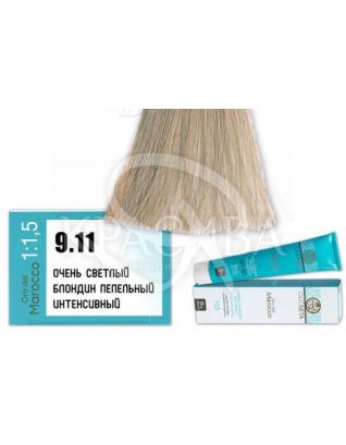 Olioseta ODM-Крем-краска безаммиачная с маслом арганы 9.11 Супер светлый блондин пепельный интенсивный, 100 мл :