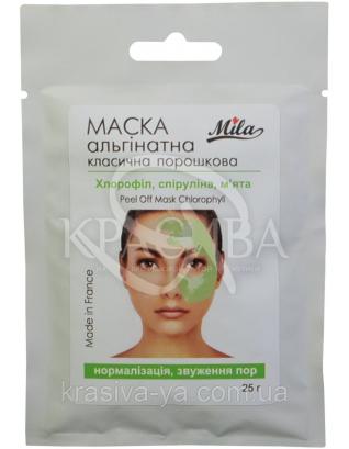 Альгінатна маска Хлорофіл, спіруліна, м'ята, 250 г