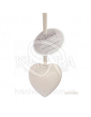 """Мыло на льняном шнурке в форме сердца Nature """"Цветок хлопка"""", 100 г : Мыло"""
