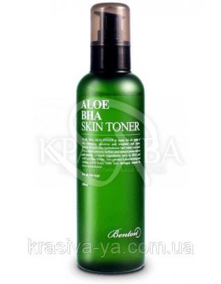 Aloe BHA Skin Toner - Тонер з високим вмістом алое і саліцилової кислотою, 200 мл : Benton