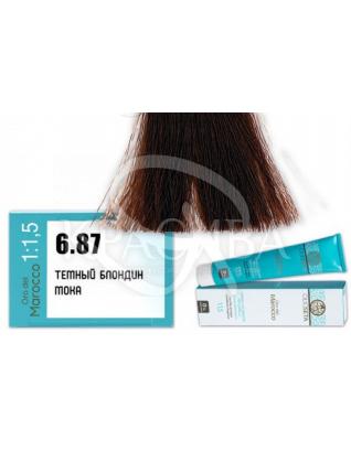 Barex Olioseta ODM - Крем-краска безаммиачная с маслом арганы 6.87 Темный блондин мокка, 100 мл :