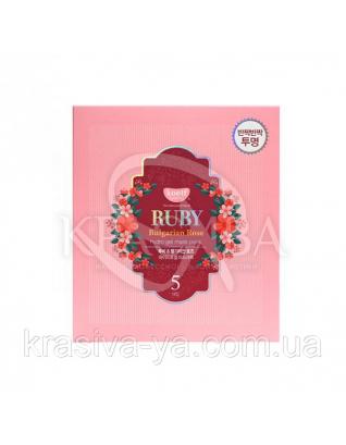Гидрогелевая маска для лица с рубином KOELF Ruby & Bulgarian Rose Hydro Gel Mask , 30г х 5 шт : KOELF