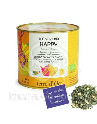 """TdO Органический зеленый чай """"Счастье"""" ( ацерола, гуарана, куст смородины ), 100 г : Органический чай"""