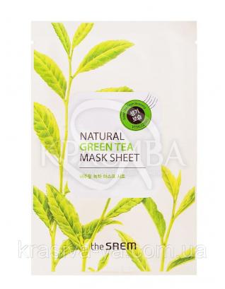 "The Saem Natural Sheet - Тканинна маска з натуральним екстрактом ""Зелений чай"", 20 мл : The Saem"