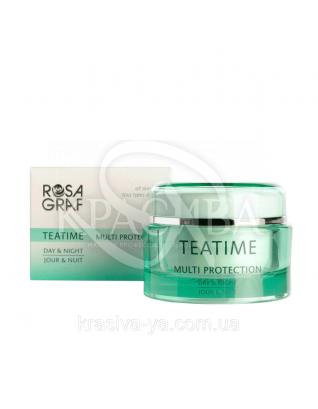 Крем с экстрактом зеленого чая - Teatime Multi Protection 24h-Cream, 50 мл