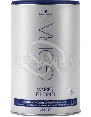 Igora Vario Blond Plus - Осветляющий порошок, осветление до 7 тонов (голубой), 450 г : Порошок для волос