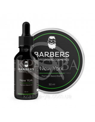 Набір для догляду за бородою New York, 30 мл + 50 мл : Barbers Cosmetcs