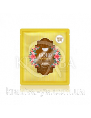 Гидрогелевая маска для лица с золотом KOELF Gold & Royal Jelly Mask, 30г х 2шт : KOELF