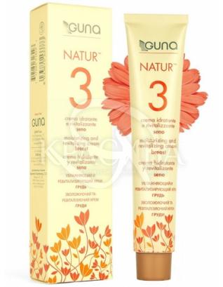 Natur 3 гомеопатичний крем для зволоження і ревіталізації шкіри декольте і грудей (туба) :