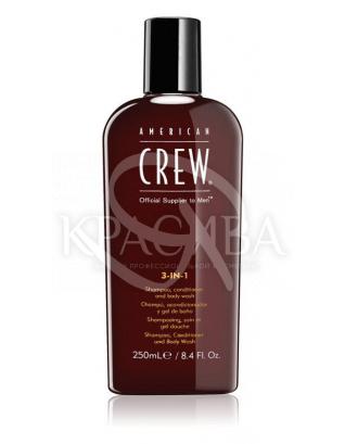 Засіб по догляду за волоссям і тілом 3-в-1 Hair & Body 3-IN-1, 250мл : American Crew