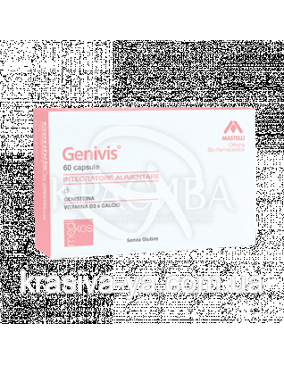 Нутрицевтическая добавка до харчування для жінок при менопаузі GENIVIS, 60 капсул : Mastelli