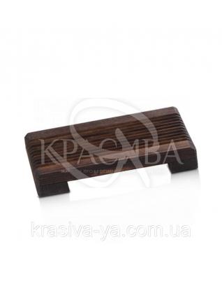 Мильниця дерев'яна - Natural / Темно-коричневий 1 шт : Аксесуари для ванної
