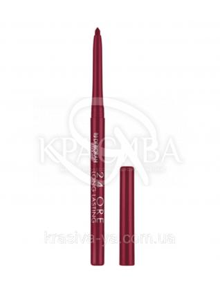 """Стійкий косметичний олівець для губ """"Long Lastin 24 Ore"""" 3 Purple, 0.4 г : Олівець для губ"""