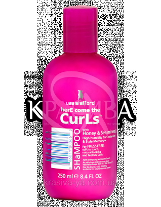 Шампунь для кучерявого та неслухняного волосся Here Come The Curls Shampoo, 250 мл : Lee Stafford