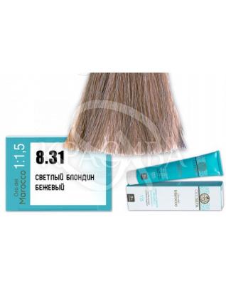 Barex Olioseta ODM - Крем-краска безаммиачная с маслом арганы 8.31 Светлый блондин бежевый, 100 мл :