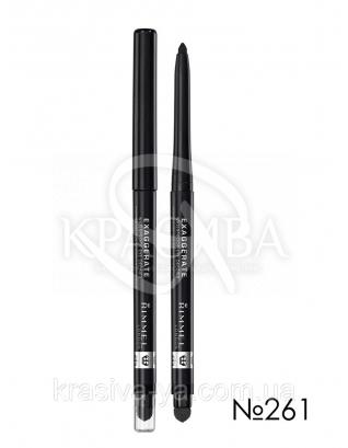 RM Exaggerate Waterproof Eye Definer - Карандаш для глаз (261-Noir / Нуар), 0,28 г : Контурный карандаш