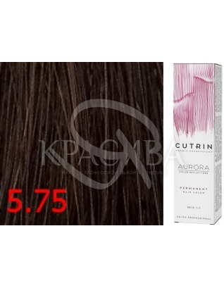Cutrin Aurora Permanent Color - Аммиачная краска для волос 5.75 Мятный шоколад, 60 мл