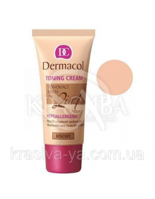 DC Make-up Toning Cream 2in1 Biscuit Тональний крем легкий зволожуючий 2в1, 30 мл : Тональний крем