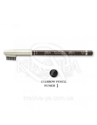 Karaja Карандаш для бровей Eyebrow Pencil 1, 1.1 г : Карандаш для бровей