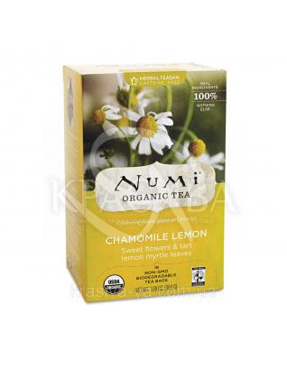 """NUMI Травяной тизан """" Ромашка с лимоном"""" / Chamomile Lemon, 18 пакетиков : Травяной чай"""