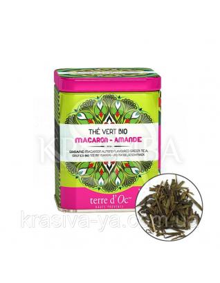 TdO Органический зеленый чай со вкусом миндального печенья/Organic Macaroon-Almond Green, 50 г : Органический чай