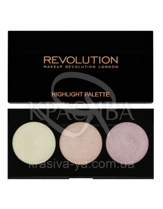 MUR Highlight Palette - Палетка из 3 подчеркивающих хайлайтеров, 15 г : Палетки