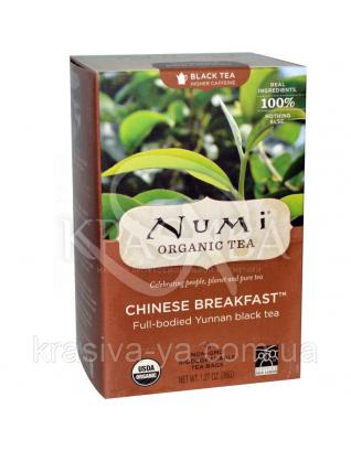 """NUMI Черный чай """" Китайский завтрак """" / Chinese Breakfast, 18 пакетиков : Органический чай"""