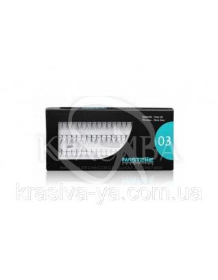 Individual eyelashes, medium - Індивідуальні (вузлові) вії середні, 60 шт. в упаковці : Nastelle