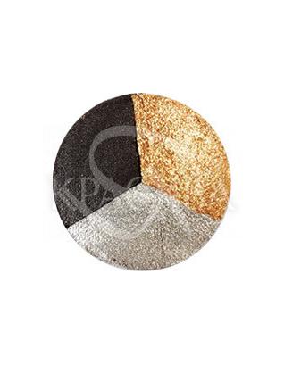 Karaja Тіні для повік Aquacolor 17 Black/Gold/Silver, 1.2 м