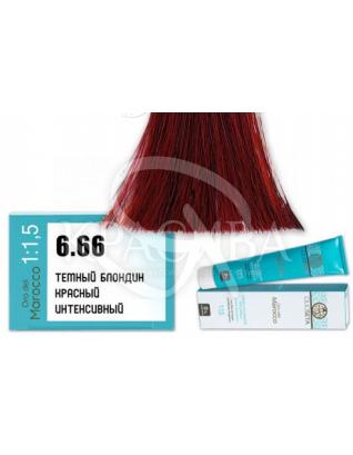 Barex Olioseta ODM - Крем-краска безаммиачная с маслом арганы 6.66 Темный блондин красный интенсивный, 100 мл :