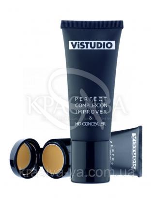 Vistudio Perfect Complexion Improver HD Conceler Light - Тональная основа + Консилер, 35 мл + 1.5 мл