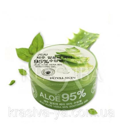 Гель з Алое Віра Royal Skin Jeju Aloe Vera 95% Soothing Gel, 300 мл - 1
